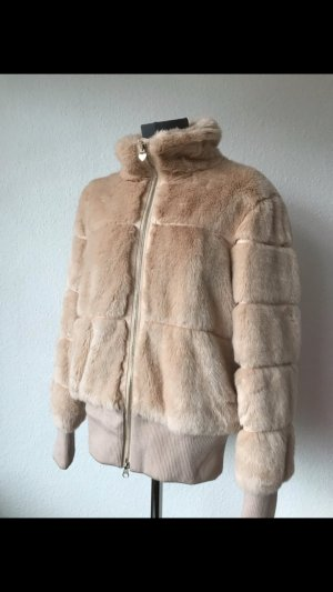 Armani Kunstfell Teddyfell fake fur Blouson Jacke rosé nude 36 S