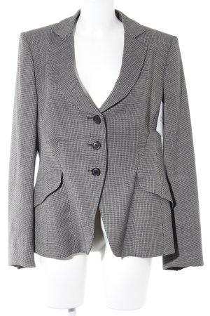 Armani Short Blazer black-white houndstooth pattern business style