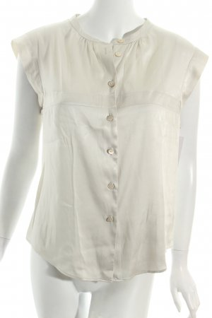 Armani Short Sleeved Blouse oatmeal wet-look