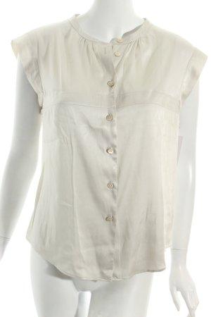 Armani Short Sleeved Blouse oatmeal wet-look
