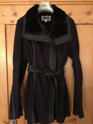 Armani Fake Fur Coat black fake fur