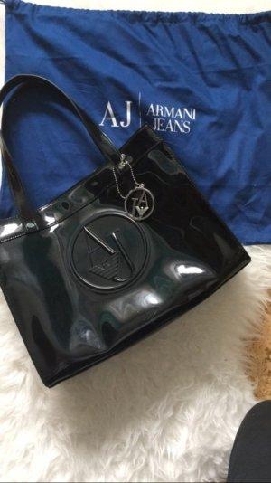 Armani lack Handtasche
