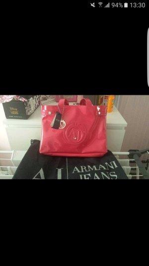 Armani lack shopper in der Farbe Fuchsia