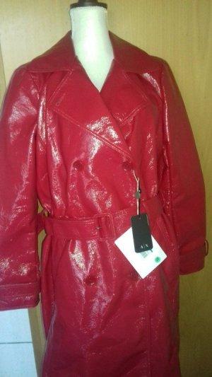 Armani Exchange Manteau en cuir rouge faux cuir