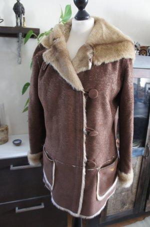 ARMANI Lammfelljacke Mantel Größe 42/44 TOP