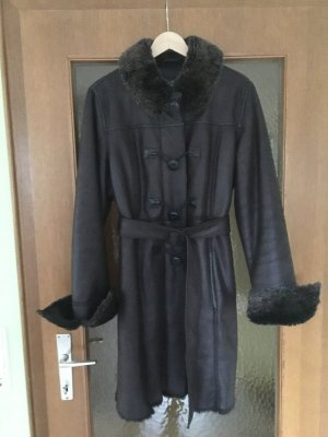 Armani Winter Coat brown imitation leather