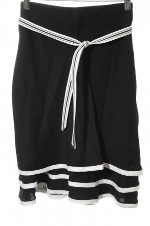 Armani Miniskirt black-white striped pattern casual look