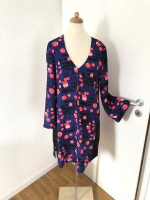 Armani Exchange Midi Dress dark blue-pink mixture fibre