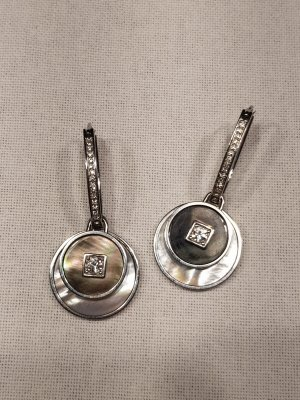 Armani Earring silver-colored