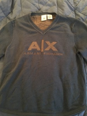 Armani Pullover in Dunkelblau mit großem A/X Logo