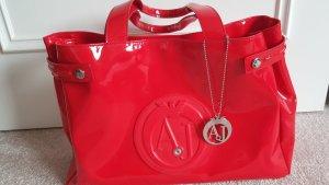 Armani Jeans Borsa shopper rosso Materiale sintetico