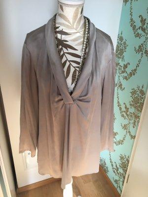 Armani Collezioni Silk Blouse grey brown-taupe
