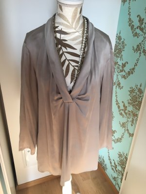 Armani Collezioni Silk Blouse grey brown-taupe