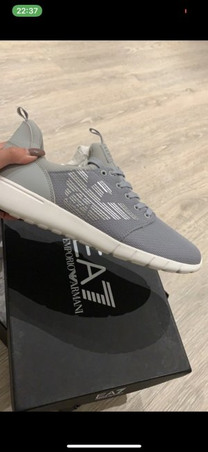 Armani Lace-Up Sneaker silver-colored