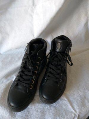 Armani Jeans Sneakers met veters zwart Synthetisch