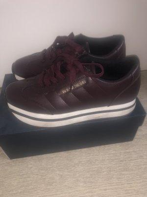 Armani Jeans Sneakers met veters roodbruin-bordeaux
