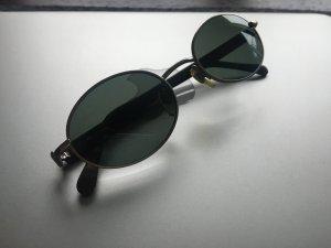 Emporio Armani Occhiale da sole ovale grigio scuro-argento