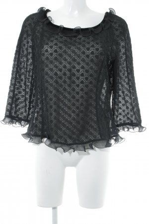 Armani Lace Blouse black elegant