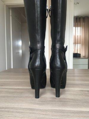Armani Stiefel schwarz/Leder Gr. 36