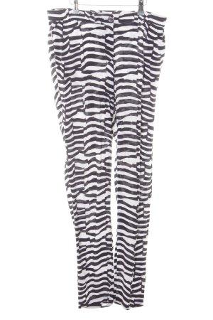 Armani Jersey Pants black-white animal pattern casual look