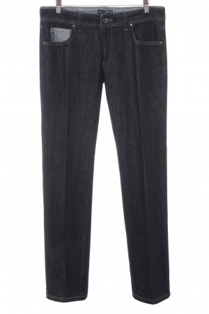 Armani Straight Leg Jeans dark grey casual look