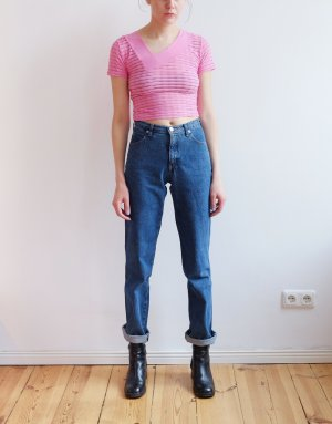 armani straight leg mittelblau highwaist jeans 28 36 S