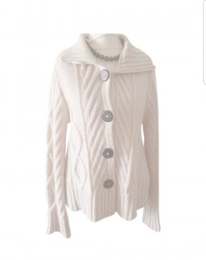 Armani Knitted Cardigan cream