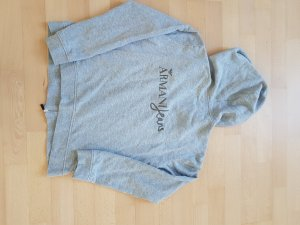 Armani Jeans Chaqueta de tela de sudadera gris claro-color plata Algodón