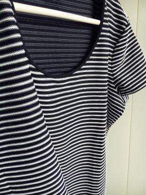 Armani T-Shirt, aktuellen Style blau-weiß gestreift, Größe L