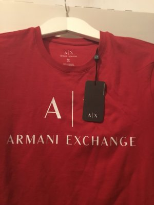 Armani Exchange Camiseta rojo