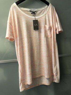 Armani Exchange T-shirt wit-neonoranje