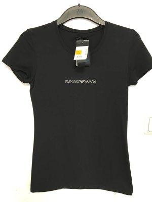 Armani T-Shirt schwarz Strass-Steine, NEU mit Etikett