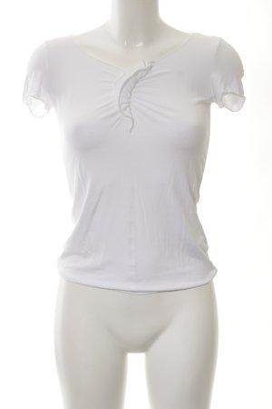 Armani T-shirt bianco stile casual