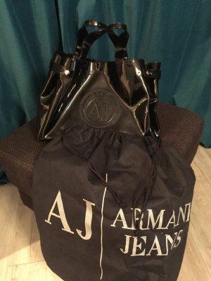 Armani Tasche Lack schwarz