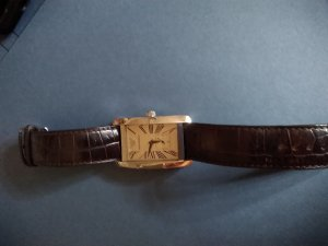 0039 Italy Watch With Leather Strap brown red
