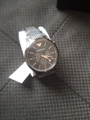 Armani Watch With Metal Strap anthracite