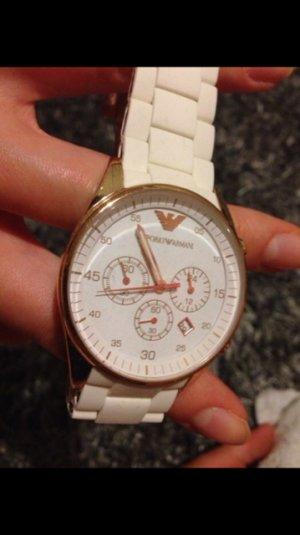 Armani Uhr weiß/rosegold