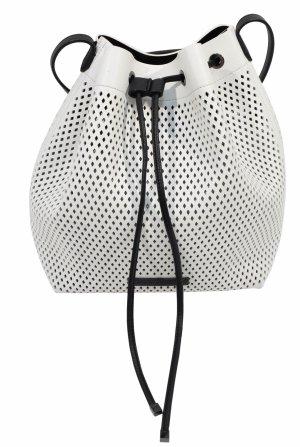 Armani Exchange Crossbody bag white-black polyurethane