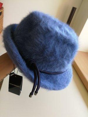 Armani Exchange Cappello in feltro blu