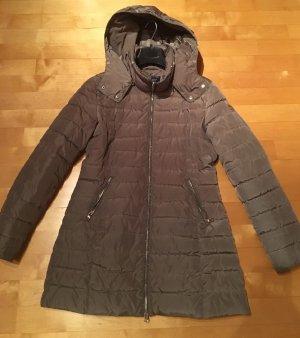 Armani Jeans Abrigo de invierno marrón grisáceo-color plata
