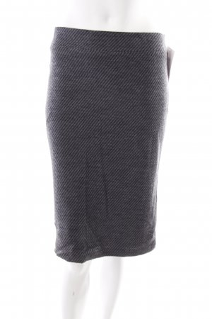 Armani Wool Skirt black-dark grey striped pattern