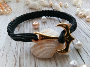 Bracelet black cotton