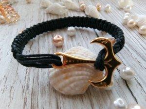 Armband zwart Katoen