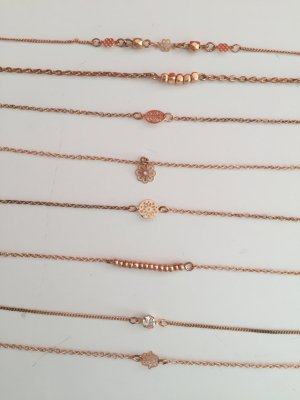Armbändchen Armband rosegold Schmuck Hand Blume Glitzer Fußkette