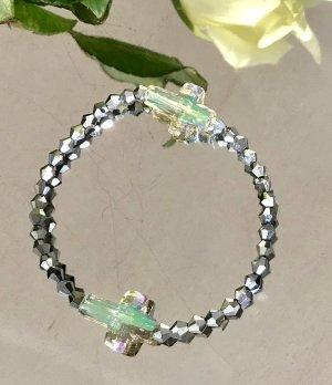 Armband lichtgrijs Glas