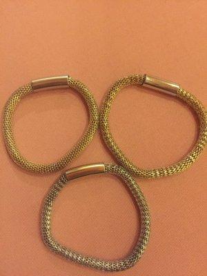 Armbänder (1 Silber + 2 Gold)