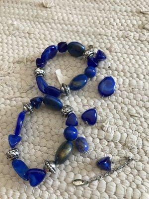Armbänder 3 Stück Marine blau Silber Armreifen
