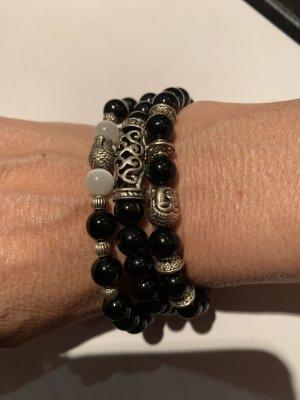 Armbänder elastisch Onyx Steine mit Budda nie getragen