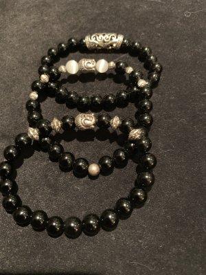 Bracciale di perle nero
