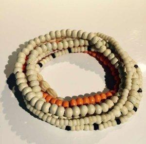 Armbänder Ethno Weiß-Orange
